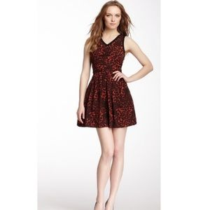 BB Dakota Almeta Dress - Red Leopard